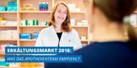 """Aposcope-Studie: """"Erkältungsmarkt 2018: Was das Apothekenteam empfiehlt"""""""