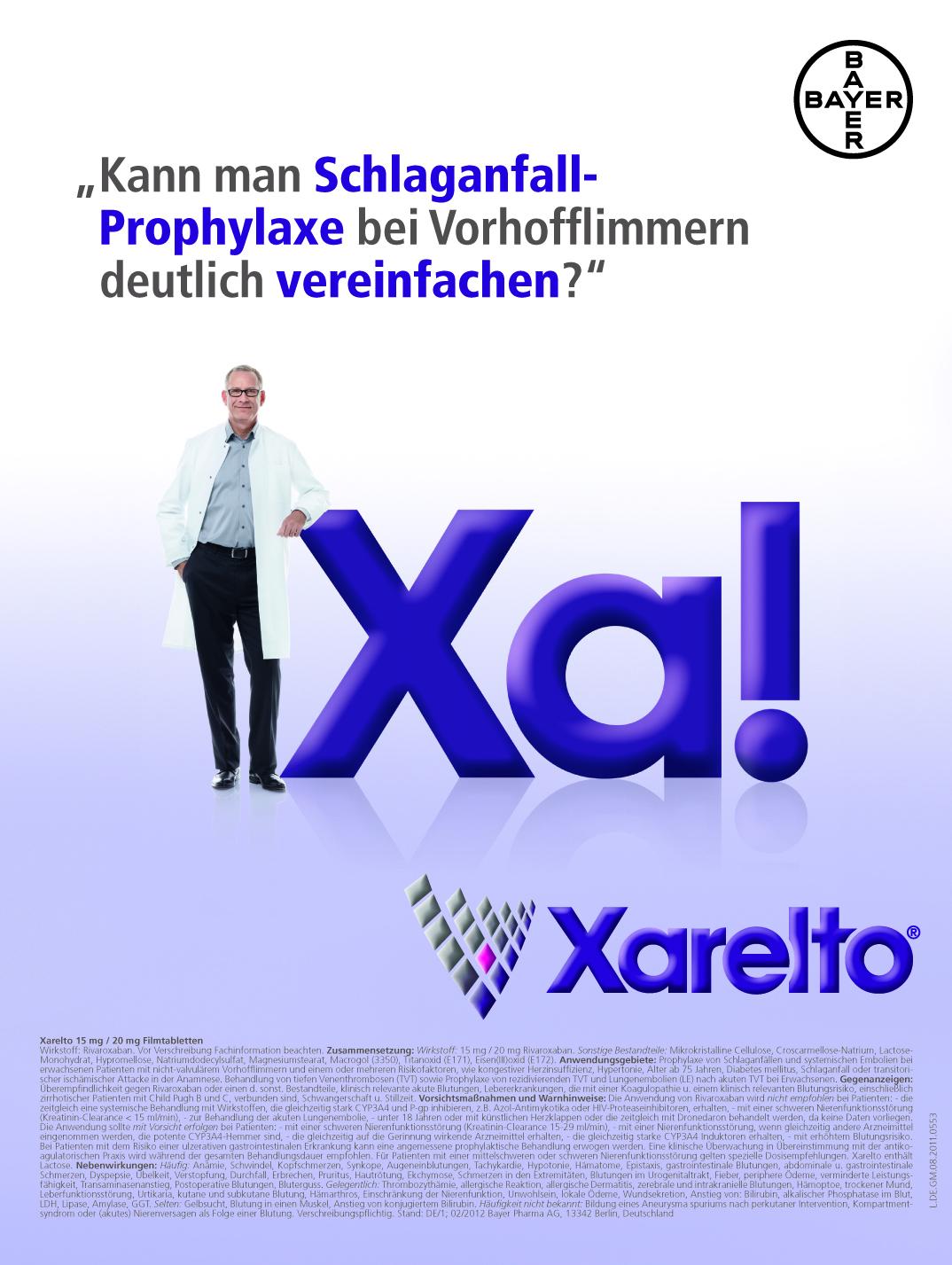 """BBDO kommuniziert für """"Xarelto"""""""