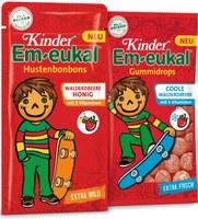 """""""Kinder Em-eukal"""" präsentiert sich neu mit Walderdbeere und aktivem Felix"""